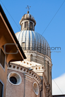 dome of of Padua Cathedral, in Padua