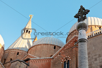 cross and domes of Padua Cathedral