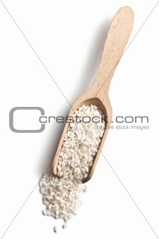 the uncooked arborio rice