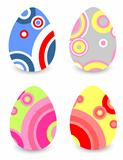 stylized Easter eggs