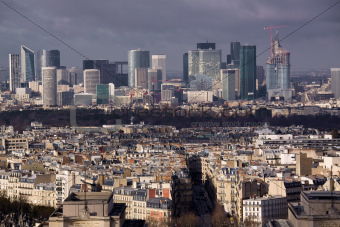 Business quarter in Paris