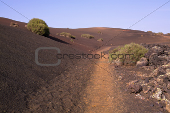 Path across volcanic park