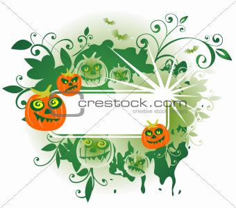 green halloween frame