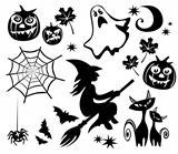 halloween symbols set