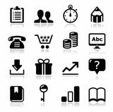 Website internet icons set - vector