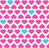 Heart pink seamless background, pattern - Valentines Day