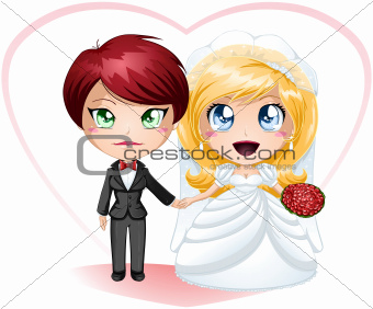 Lesbian Brides In Dress And Suit Getting Married