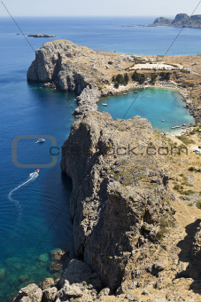Greek Island Coastline