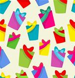 Pattern with color gifts