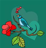 vector illustration of a love bird