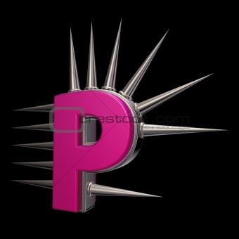 prickles letter p