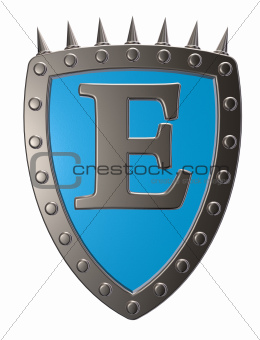 shield with letter
