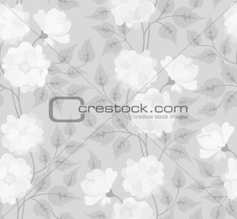 Light abstract seamless flower background