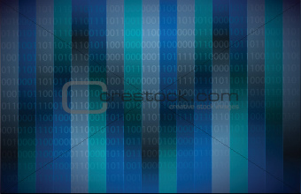 Binary code dark blue