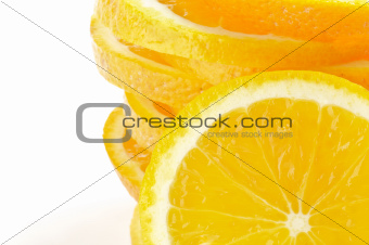 Stack of Sliced oranges frame