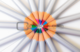 Multicolored Pencil, Arrangement in Circle