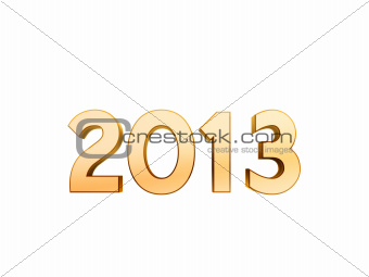 2013 new year golden symbol