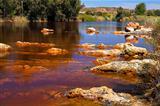 acidic rio ()river Tinto in Niebla (Huelva)