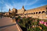 beautiful Plaza Espana in Sevilla