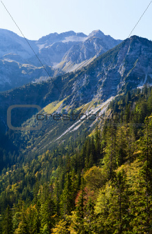 rocks in Bavarian Alps