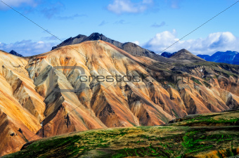 Landmannalaugar colorful mountains landscape view