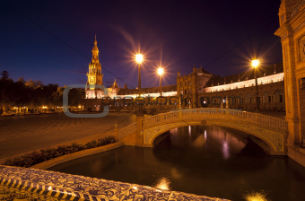 bridge in Plaza de Espana in Seville