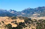 mountains close to Zahara de Sierra in Andalucia