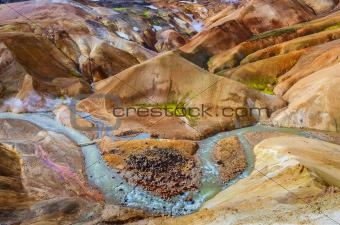 Iceland geothermal hot spring field Kerlingafjoll