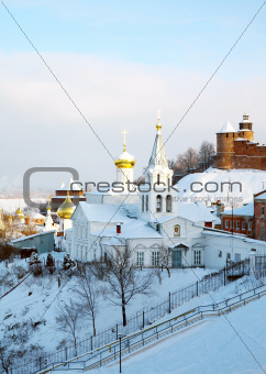 January view Church of Elijah the Prophet and Kremlin