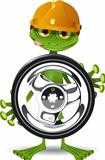 Frog and the wheel