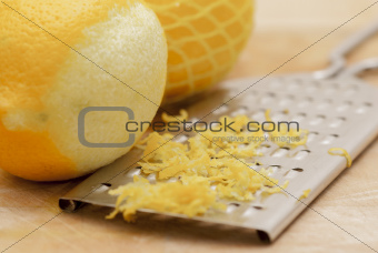 Lemons and Zest With Grater.