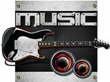 Electric Guitar Music Background
