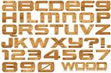 Grunge Wooden Letters and Numbers