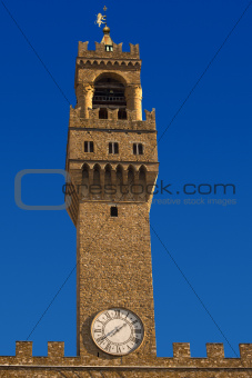 Palazzo Vecchio Tower - Florence Italy