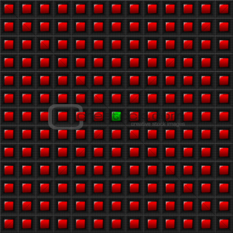 Red Squares - One Green - Background