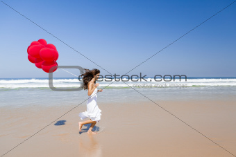 Running with ballons