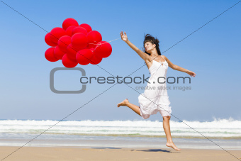 Running and Jumping with ballons