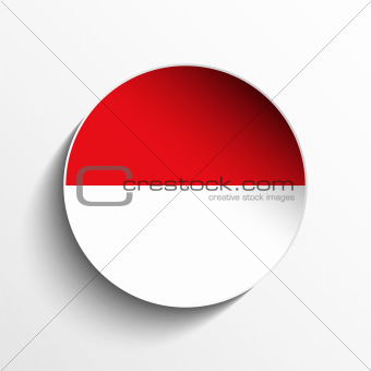 Monaco Flag Paper Circle Shadow Button