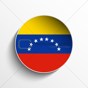Venezuela Flag Paper Circle Shadow Button