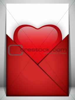 Valentine Day Heart Letter Love