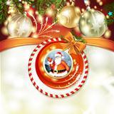 Santa and Christmas ball
