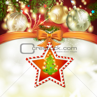 Christmas star with tree