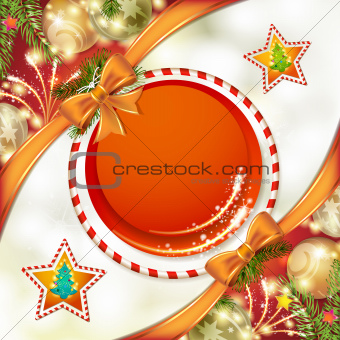 Christmas background with bow