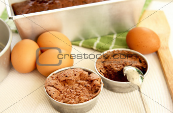 Baking cake [ Preparation for baking  ]