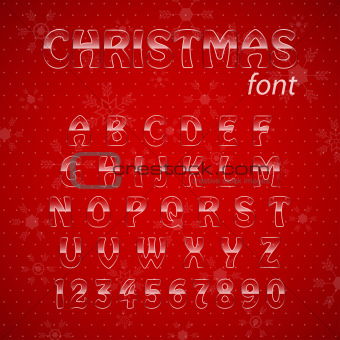 Christmas glass alphabet.