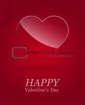 Valentine's day luxury glass heart .