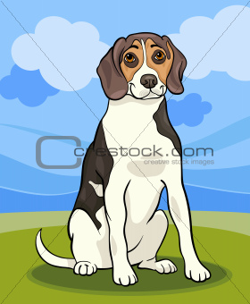 beagle dog cartoon illustration