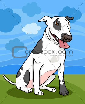 bull terrier dog cartoon illustration