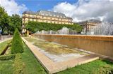 Fountains ant Hotel de Ville in Paris, France.
