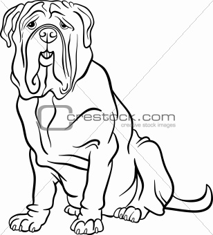 neapolitan mastiff dog cartoon for coloring